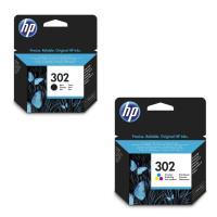 Pack de 2 cartouches HP 302 Noir et Tri-couleur