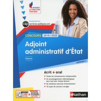 7142138f69c Concours Adjoint administratif d état - numéro 2 catégorie C (Intégrer la  fonction publique