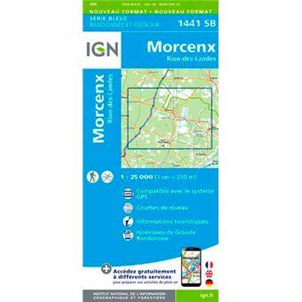 Morcenx rion-des-landes 1:25 000