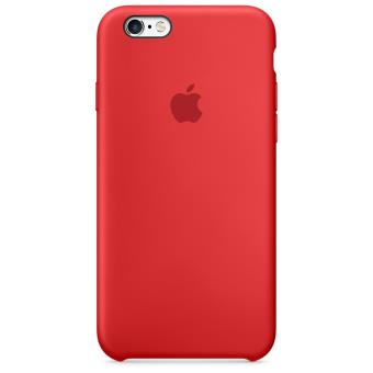 Coque en silicone Apple pour iPhone 6s Rouge