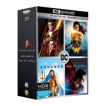 Justice leagueCoffret Origin Stories 4 Films Blu-ray 4K Ultra HD