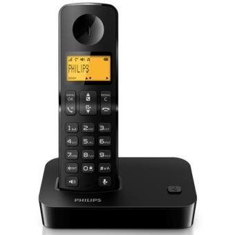 Téléphone fixe PHILIPS D2001B NOIR SOLO SANS REPONDEUR