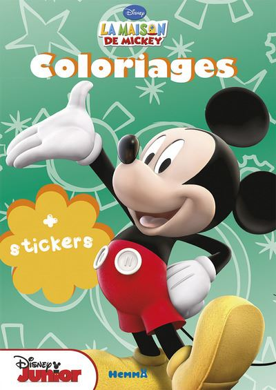 Mickey -  : Coloriage avec stickers La maison de mickey