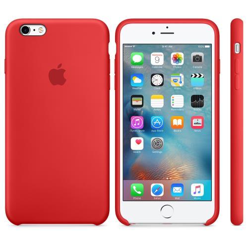 Coque en silicone Apple pour iPhone 6s Plus Rouge