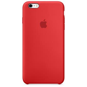 Coque en silicone Apple pour iPhone 6s Plus Rouge