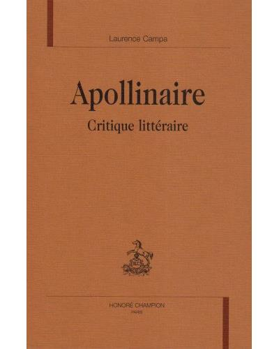 Apollinaire critique littéraire