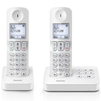 Téléphone fixe PHILIPS D4052W BLANC DUO AVEC REPONDEUR