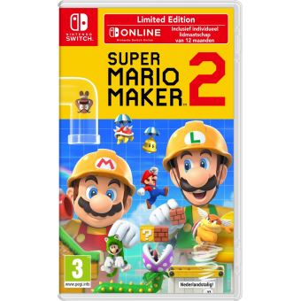 SUPER MARIO MAKER 2 EDITION LIMITEE + ABO 12 MONTH NL SWITCH