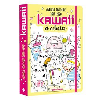Coloriage Gourmandise Kawaii.Agenda Scolaire Kawai A Colorier 2019 2020 Dernier Livre De