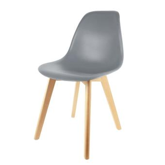 chaise scandinave the home deco factory coque polypropylne grise m2 - Chaise Scandinave Grise