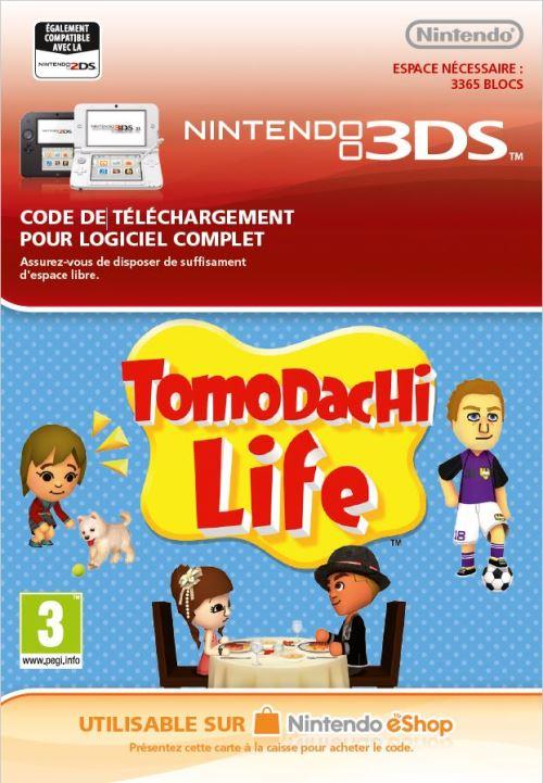 Code de téléchargement Tomodachi Life Nintendo 3DS