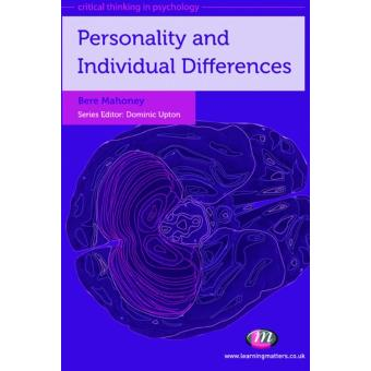 Critical Thinking In Psychology Series Personality And Individual Differences