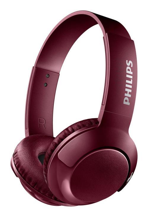 Casque audio Philips Bass+ SHB3075 Bluetooth Rouge