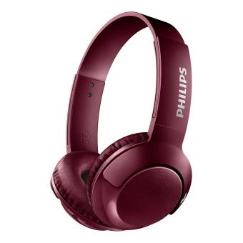 Koptelefoon Philips Bass + SHB3075 Bluetooth Rood