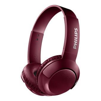 Koptelefoon Philips Bass + SHB3075 Bluetooth Rood