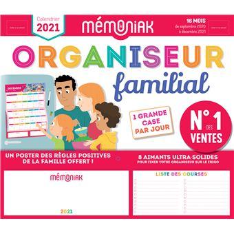Organiseur familial Mémoniak 2020 2021   broché   Editions 365