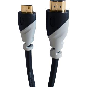 Câble On Earz Cable Gear Mini HDMI HQ 3 m Noir et Gris