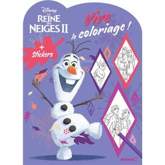 La Reine Des Neiges Disney La Reine Des Neiges 2 Vive Le Coloriage Olaf Collectif Broche Achat Livre Fnac