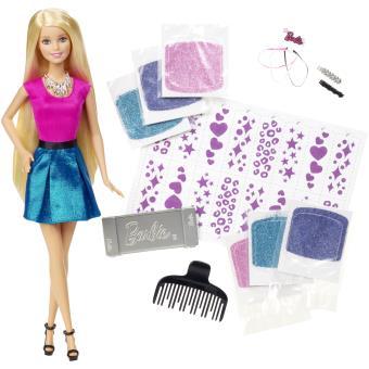 Poupée Barbie avec accessoires Styles et Paillettes