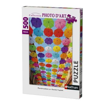 Puzzle 500 pièces Pluie de couleurs Nathan