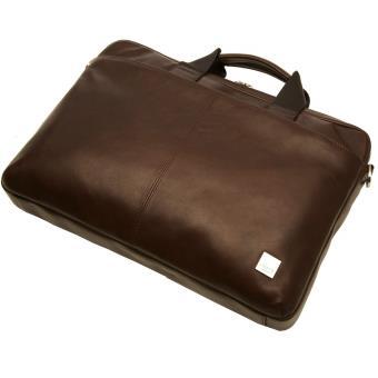 bd5b1d0858 Sacoche Cuir pour PC portable Knomo Durham Marron 15' - Sacoche PC ...