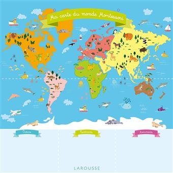 Ma Carte Du Monde Montessori Collectif Achat Livre Fnac