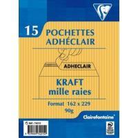 CLAIRFTN PQT 15 POCH ADH 162X229 KRAFT
