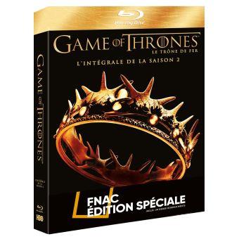 Game Of Thrones, Le trône de ferGame of Thrones Coffret intégral de la Saison 2 Edition Spéciale Fnac Blu-Ray