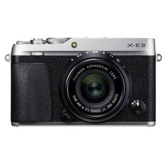 Hybride Fujifilm X-E3 Argent + Objectif XF 23 mm