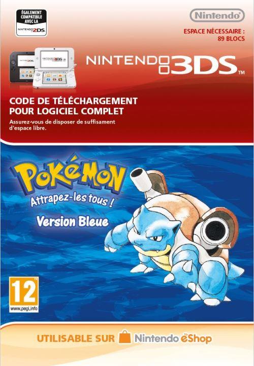Code de téléchargement Pokémon Attrapez-les tous ! Version Bleue Nintendo 3DS