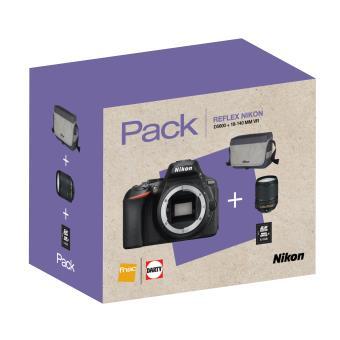 Pack Fnac Reflex Nikon D5600 + Objectif AF-S 18-140 mm VR + Fourre-tout + Carte SDHC 8 Go