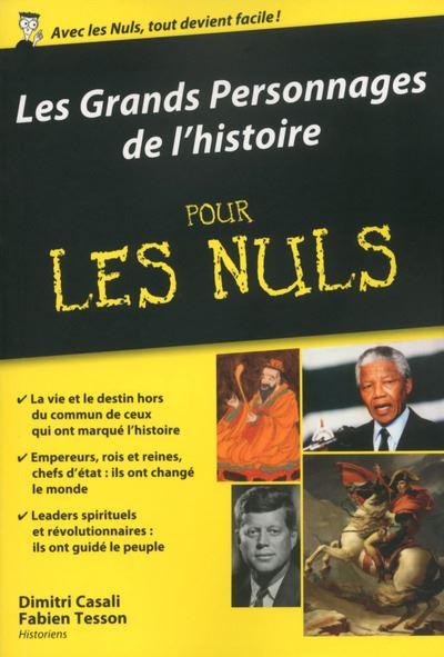 Les grands personnages de l'Histoire Poche Pour les Nuls