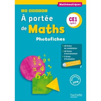 Le Nouvel A portée de maths CE1 - Photofiches + CD