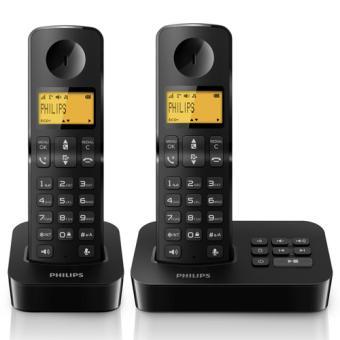 Téléphone fixe PHILIPS D2052B NOIR DUO AVEC REPONDEUR