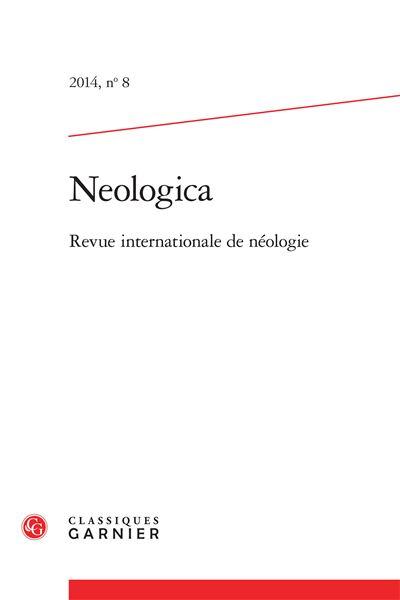 Neologica 2014, n° 8 - revue internationale de néologie
