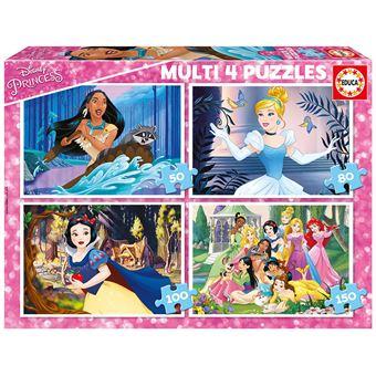 Educa Disney Prinsessen - 4 puzzels van 50 / 80 / 100 / 150 stukjes