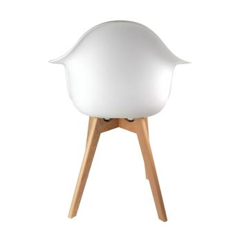 Fauteuil Scandinave The Home Deco Factory Blanc M Fnac - Fauteuil scandinave blanc