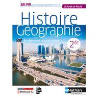 Histoire-Géographie EMC 2e Bac Pro (Le monde en marche) Livre + Licence élève 2019