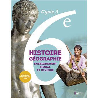 Histoire, Géographie, EMC 6ème Cycle 3