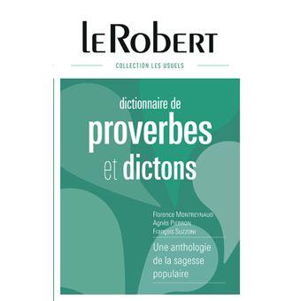Dictionnaire De Proverbes Et Dictons Relie