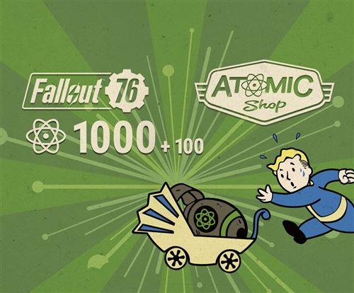 Code de téléchargement Fallout 76 1000 + 100 Atoms Bonus PS4
