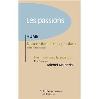 dissertation sur les passions hume date parution