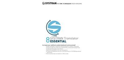 SYSTRAN 8 Translator Essential English European Pack