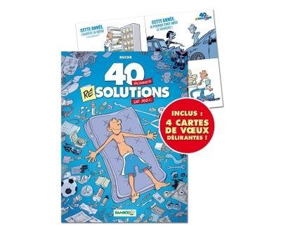 40 bonnes résolutions de mec T1 + Cartes Voeux