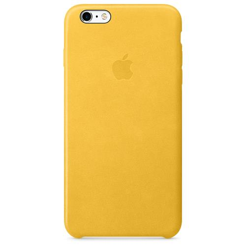 Coque en cuir Apple pour iPhone 6s Plus Orange