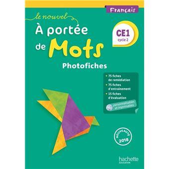 Le Nouvel A portée de mots - Français CE1 - Photofiches + CD