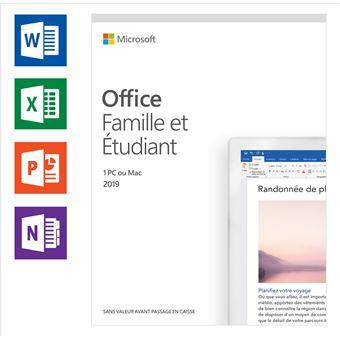 Microsoft Office 2019 Famille & étudiant FR