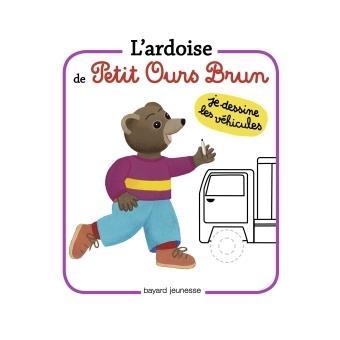 Petit Ours BrunL'ardoise de Petit Ours Brun - Je dessine les véhicules
