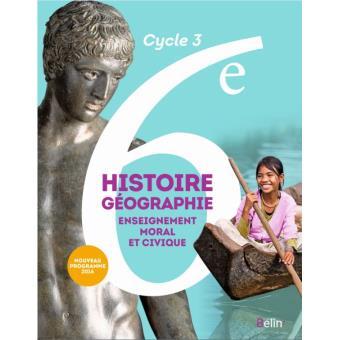Histoire, Géographie, EMC 6ème, Cycle 3