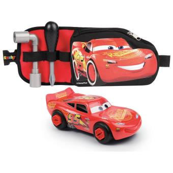 Ceinture outils + Voiture Cars Flash McQueen Smoby